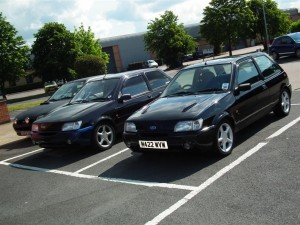 Ford Fiesta Si's at the RR day